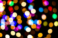 Bokeh background with many light particles. Bokeh background with many colorful light particles Stock Images