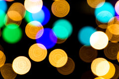 Bokeh background with many light particles. Bokeh background with many colorful light particles Stock Photo