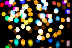 Bokeh background with many light particles. Bokeh background with many colorful light particles Royalty Free Stock Photography