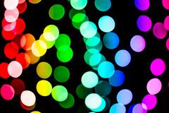 Bokeh background with many light particles. Bokeh background with many colorful light particles Stock Photos