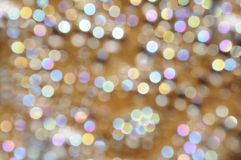 Bokeh background pearl and golden Royalty Free Stock Photography