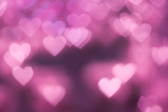 Bokeh background. Pink Heart shape bokeh background Stock Photos