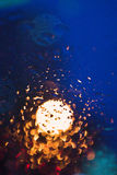 Bokeh background and raindrop Royalty Free Stock Photo