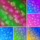 Bokeh Background Set Stock Photography