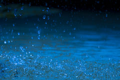 Bokeh backgrounds blue water splash. Stock Images