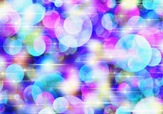 Bokeh backgrounds of Round Shapes in Chaotic Arrangement Royalty Free Stock Photos