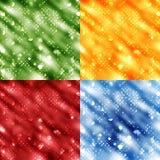 Bokeh backgrounds vector. Set of 4 bright colourful bokeh backgrounds in different colours in vector format Stock Photos