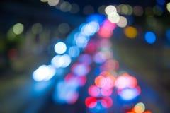Bokeh bakgrund av trafikljus Royaltyfri Foto