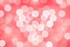 Bokeh bakgrund med valentin Royaltyfria Bilder