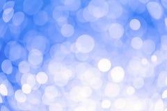 Bokeh bakgrundsblått Arkivfoton