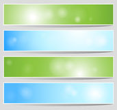 Bokeh Banners Stock Images