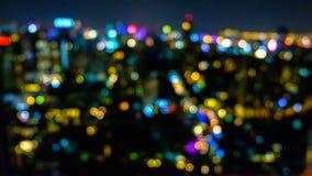 Bokeh barwi od lampy przy kapitałem Obraz Royalty Free