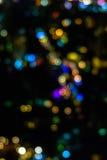 Bokeh barwi od lampy przy kapitałem Obrazy Royalty Free