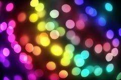 Bokeh beleuchtet Feiertagshintergrund Defocused Gold, Blau, Rot und g stockbild