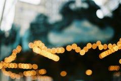 Bokeh beleuchtet von einem Karussell im Central Park New York lizenzfreie stockfotografie