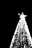 Bokeh of big christmas light tree Royalty Free Stock Image