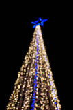 Bokeh of big christmas light tree Royalty Free Stock Image