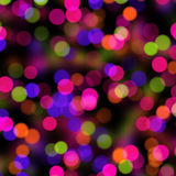 Bokeh on black Royalty Free Stock Photography