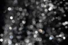 Bokeh on black Royalty Free Stock Photos