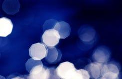 Bokeh-Blaulichthintergrund Stockbilder