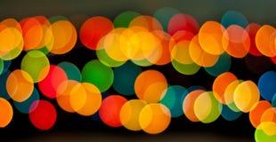 Bokeh blu, verde, giallo e rosso, backgroun astratto della luce morbida Fotografie Stock