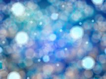 Bokeh blue background. Blue bokeh effect orbs abstract background Royalty Free Stock Photography