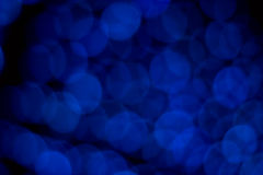 Bokeh Blue Lights Royalty Free Stock Image