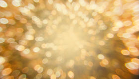 Bokeh blur background. Golden Bokeh abstract blur background Stock Photography