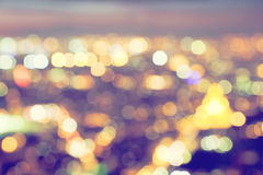 Bokeh, blur of a big city lights at night. Nightlife background Royalty Free Stock Image