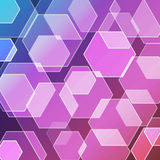 Bokeh blur with hexagons background Royalty Free Stock Photography