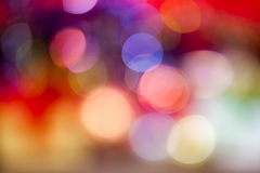 Bokeh blur at night for background of Christmaslight Stock Photos