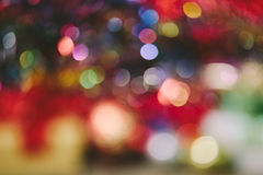 Bokeh blur at night for background of Christmaslight Royalty Free Stock Image