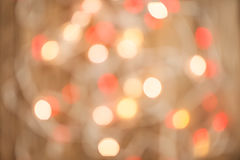 Bokeh blur at night for background of Christmaslight Royalty Free Stock Images