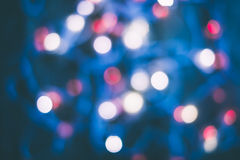 Bokeh blur at night for background of Christmaslight Stock Photo