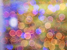 Bokeh blur at night for background of Christmaslight Royalty Free Stock Photography