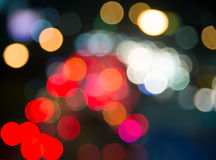 Bokeh blur of traffic light at night Royalty Free Stock Photo