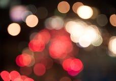 Bokeh blur of traffic light at night Royalty Free Stock Photo