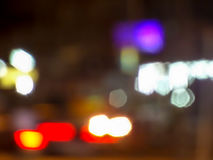 Bokeh and blur of traffic light and public light Royalty Free Stock Image