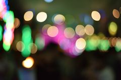 Bokeh Blurred abstract background for birthday, anniversary, wedding, new year eve or Christmas.  Royalty Free Stock Photos