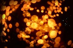 Bokeh Blurred abstract background for birthday, anniversary, wedding, new year eve or Christmas.  Royalty Free Stock Photography