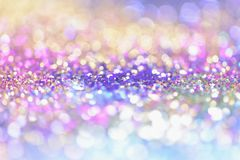 Bokeh Blurred abstract background for birthday, anniversary, wedding, new year eve or Christmas. Bokeh Colorfull Blurred abstract background for birthday Stock Images
