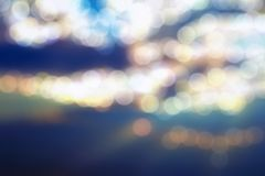 Bokeh blurred abstract background stock image