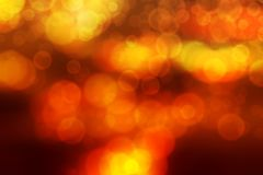 Bokeh blurred abstract background gold sunset sunrise Stock Image