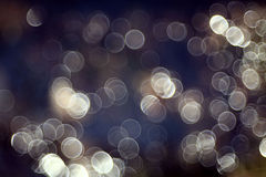 Bokeh blurred blue water Stock Photography
