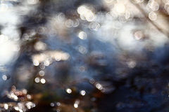 Bokeh blurred blue water reflections. Cool stock photos