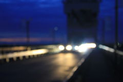 Bokeh blurred car lights Royalty Free Stock Images