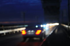 Bokeh blurred car lights Stock Photo