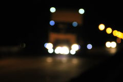 Bokeh blurred car lights at night Royalty Free Stock Photo