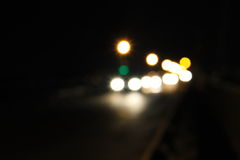 Bokeh blurred car lights at night Royalty Free Stock Image