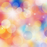 Bokeh blurred lights background Royalty Free Stock Photos